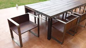 Design Table by Table Chair Design Iron Wood Remnants Youtube