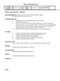 lp circles 1 circle lesson plan
