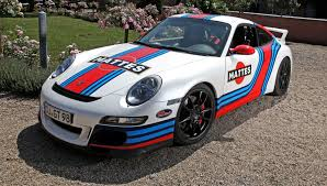 old porsche race car germany is mad for car wraps martini style racing livery by cam