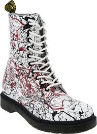 dr martens womens boots canada discounted dr martens 1490 10 eye boot white paint splatter