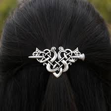 hair barrette celtic knot hair barrette the enchanted forest