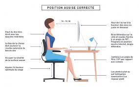 posture bureau une bonne position assise à bureau