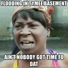 Flooded Basement Meme - flooding in tymee basement ain t nobody got time fo dat sweet