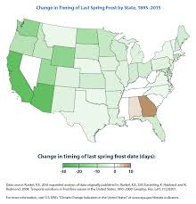 The United States In The World Map by Climate Change Indicators Length Of Growing Season Climate
