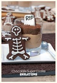 halloween graveyards with choc hazelnut mousse chocolate dirt
