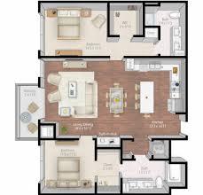 Large Apartment Floor Plans by Modern Home Interior Design 2 Bedroom Luxury Apartment Floor