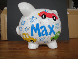 customized piggy bank baby personalized piggy bank cars car bank baby boy baby