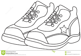 Running Shoe Coloring Page running shoes coloring page stock illustration illustration of