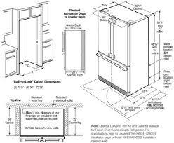 Counter Depth Refrigerator Size Contactmpow