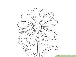 9 easy ways draw flower wikihow