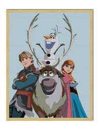 free pdf download frozen cross stitch pattern frozen