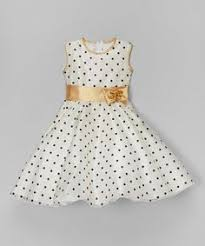 look at this zulilyfind white u0026 black polka dot a line dress