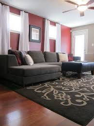 Red Accent Wall by Shannon U0027s Shabby Chic Double Wide Makeover Living Room Decoration