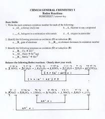 balancing redox equations 1 answer key