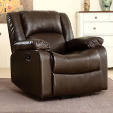 living room glider bonded faux leather rocker and swivel recliner chair glider living