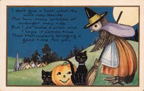 Vintage Halloween Owl halloween postcard roundup
