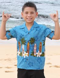 surfing classic boards boys aloha shirt shaka time hawaii