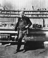 thomas edison light bulb invention thomas edison in a laboratory pictures getty images