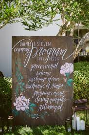 wedding program sign 12 clever ceremony program ideas weddings illustrated