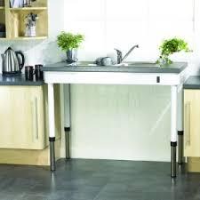 cuisine ergonomique table de cuisine droite à niveau réglable manuel mobilier