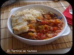 cuisiner filet de colin filet de colin au basilic sur ratatouille à la provençale et riz