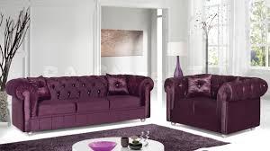 captivating purple tufted velvet sofa design