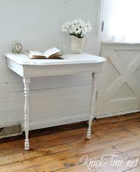 half table for kitchen repurposed half table into nightstand knick of time