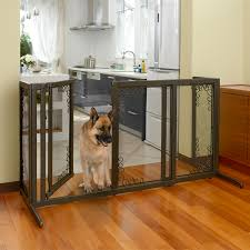 Laminate Flooring For Dogs Dog Gate Pet Furniture Deluxe Mesh Freestanding Pet Gate
