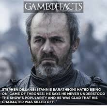 Stephen Meme - gamed reacts stephen dillane stannis baratheon hated being on game