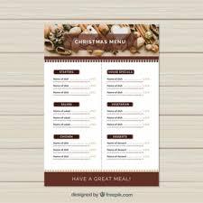 menu design resources christmas menu vectors photos and psd files free download
