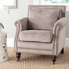 safavieh u0027karsen u0027 mushroom taupe club chair free shipping today