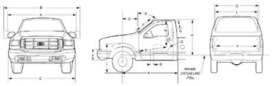 Ford F 150 Truck Bed Dimensions 2002 F 250 F 350 Superduty Dimensions Main Page