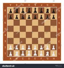 chess table wooden chess board table figures vector stock vector 435737773