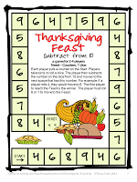 alternative thanksgiving math freebies