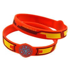 red silicone bracelet images 2018 wholesale iron man silicone bracelet ink filled logo bangle jpg