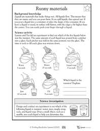 runny materials science term 4 yr 3 pinterest free printable