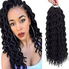 crochet weave with deep wave hairstyles for women over 50 dingxiu 18 6packs curly faux locs crochet hair deep wavy crochet