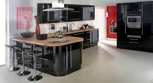 black gloss kitchen ideas excellent black color high gloss kitchen cabinets with brown color