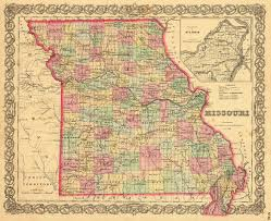 Missouri State Map Vintage 19th Century Map Of Missouri Photo Page Everystockphoto