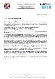 letter wkf referee course linz austria 2016