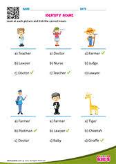 english categorize nouns worksheets grade 1