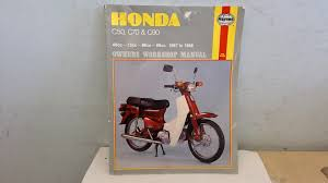 honda c50 c70 and c90 owner u0027s workshop manual mansur darlington
