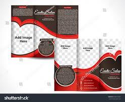 tri fold exotic salon brochure template stock vector 568318387