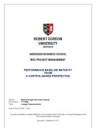 msc project management thesis project management risk