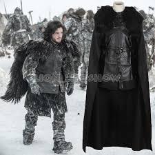 game of thrones cosplay costume men jon snow cloak costume