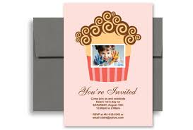pink cupcakes first birthday invitation examples 5x7 in vertical