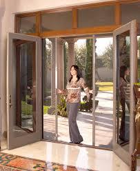 Secure French Doors - retractable screen doors security screen door screenmobile