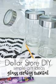Unique Holiday Gift Idea Glass Dollar Store Diy Gift Glass Etching Container Hunt And Host