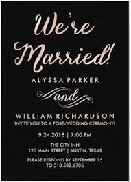 post wedding reception wording exles after the wedding party invitations or elopement party invitations