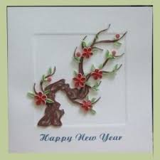 happy new year paper cards new year card with quilling paper 100 hanhmade original design